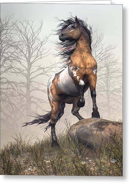 Spotted Horse Greeting Cards - Pinto Greeting Card by Daniel Eskridge