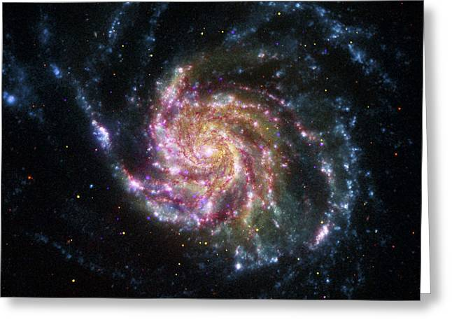 Nebulous Greeting Cards - Pinwheel Galaxy Rainbow Greeting Card by Adam Romanowicz