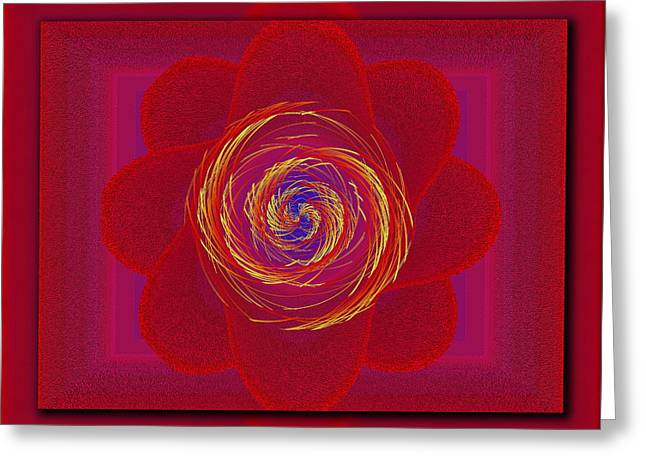 Pinwheeled Petals Greeting Card by Tim Allen