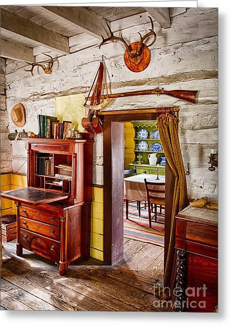 Pioneer Park Greeting Cards - Pioneer Dining Room Greeting Card by Inge Johnsson