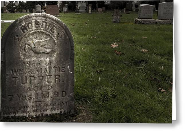Pioneer Grave Greeting Card by Jean Noren