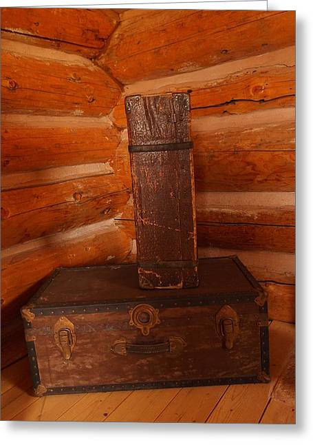 Old Relics Photographs Greeting Cards - Pioneer Luggage Greeting Card by Jeff  Swan