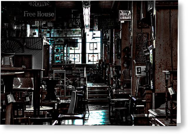 Pioneer Square Seattle Greeting Cards - Pioneer Square Antique Store - Seattle Washington Greeting Card by David Patterson