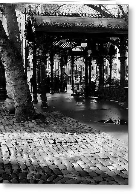 Pioneer Square Pergola II Greeting Card by David Patterson