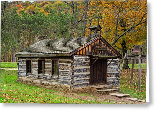 Fishing Creek Greeting Cards - Pioneer Village Chapel Greeting Card by John Bailey