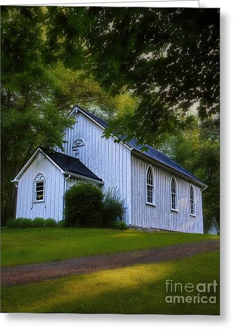 A Pine Grove Greeting Cards - Pioneer - Wilderness Church Greeting Card by Henry Kowalski