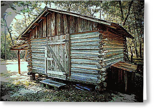 Pioneer Woodshed Greeting Card by Sheri McLeroy