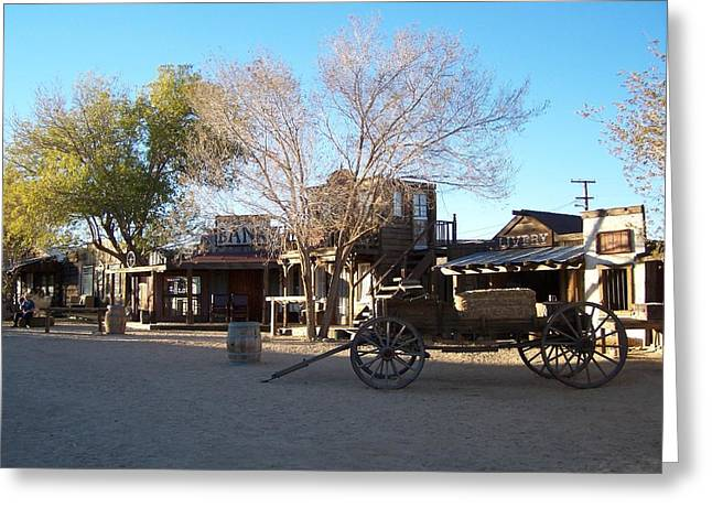 Pioneertown Greeting Cards - Pioneertown Greeting Card by Christine Drake