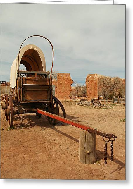 Southern Utah Greeting Cards - Pionner Wagon Greeting Card by Jeff  Swan