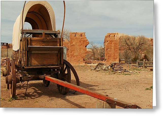 PIONNER WAGON Greeting Card by Jeff  Swan
