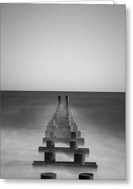 Jerseyshore Greeting Cards - Pipe Dream bw vertical  Greeting Card by Michael Ver Sprill