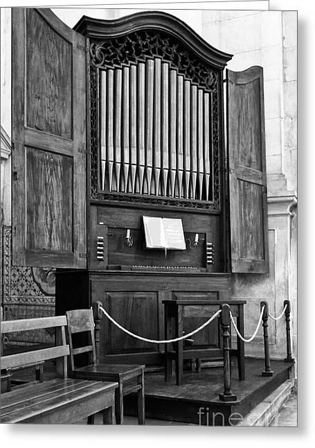 Pipe Organ Greeting Cards - Pipe Organ Greeting Card by Jose Elias - Sofia Pereira