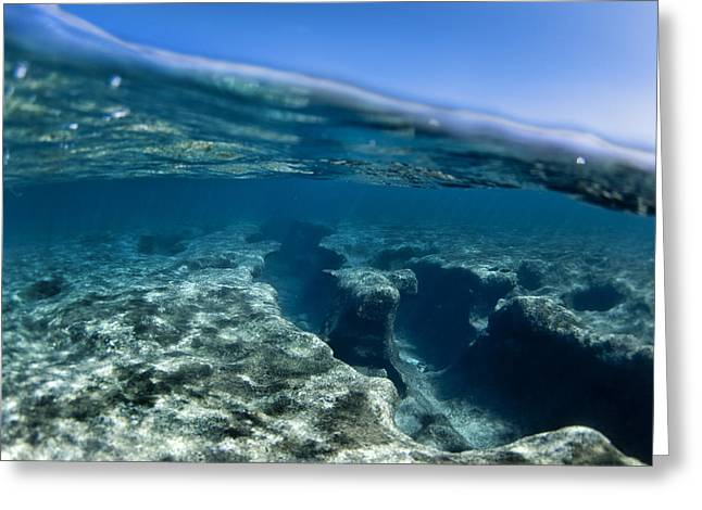 Sean Davey Greeting Cards - Pipe reef. Greeting Card by Sean Davey