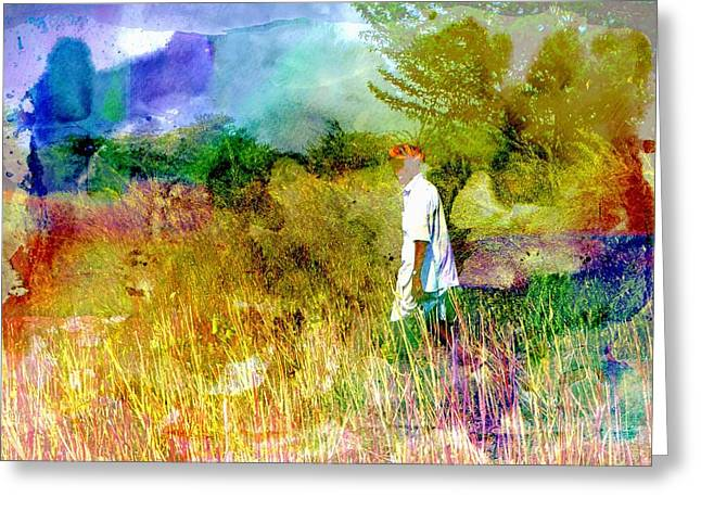 Taking The Field Greeting Cards - Pipe Smoking Ritual Chillum India Rajasthan 3a Greeting Card by Sue Jacobi