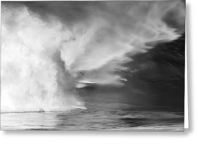 North Shore Greeting Cards - PIpe Spit Greeting Card by Sean Davey