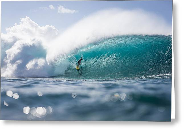 Pipeline Dream Greeting Card by Doug Falter