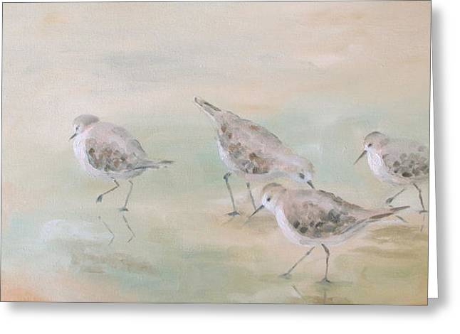 Florida Panhandle Paintings Greeting Cards - Pipers Five Greeting Card by Susan Richardson