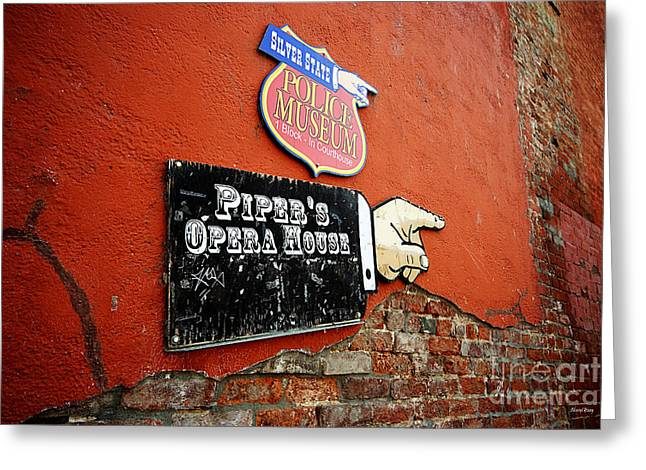 Ghost Hand Greeting Cards - Pipers Opera House Greeting Card by Cheryl Young