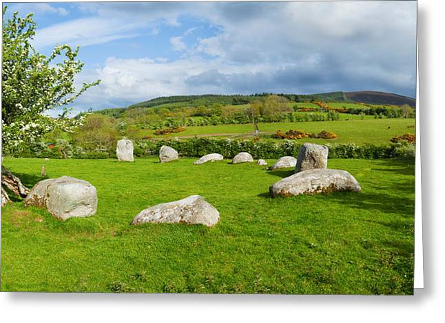 Piper Greeting Cards - Pipers Stone Bronze Age Stone Circle 14 Greeting Card by Panoramic Images