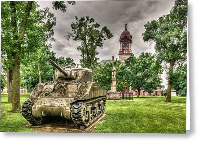Historic Tank Greeting Cards - Pipestone Courthouse Greeting Card by Paul Freidlund