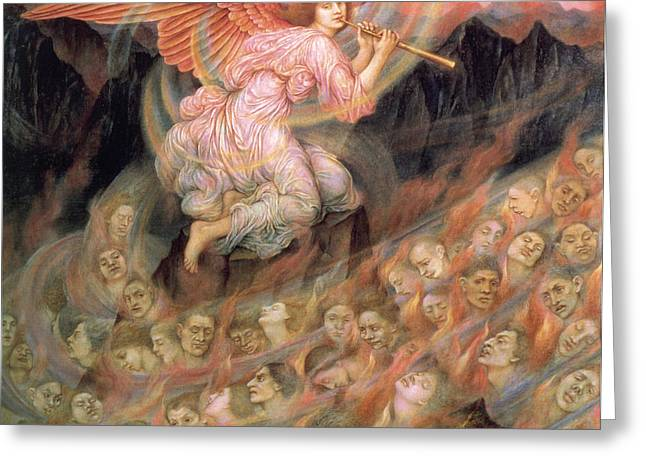 Evelyn De Greeting Cards - Piping to the Souls in Hell Greeting Card by Evelyn de Morgan
