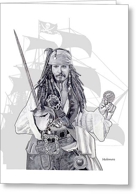 Piracy On The High Sea Greeting Card by Peter Melonas
