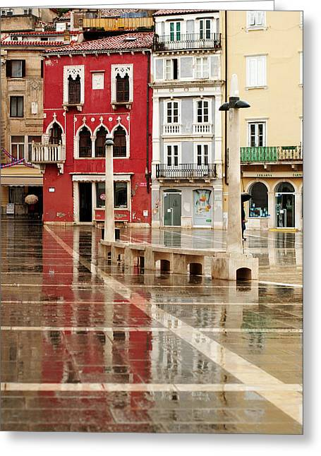April Showers Greeting Cards - Piran Tartini square Greeting Card by Graham Hawcroft pixsellpix