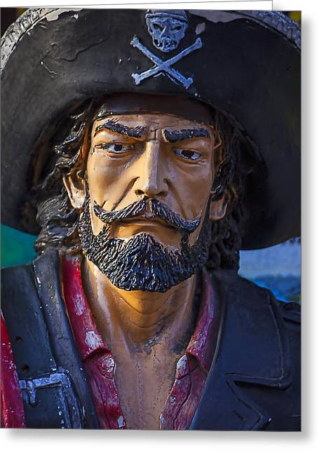 Cross Bones Greeting Cards - Pirate Captain Greeting Card by Garry Gay
