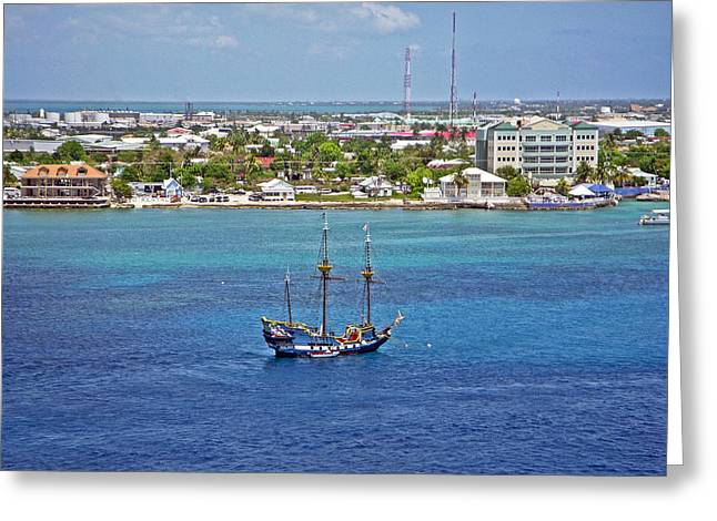 Pirate Ship in Cozumel Greeting Card by Aimee L Maher Photography and Art