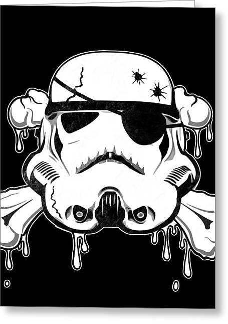 Spatter Greeting Cards - Pirate Trooper Greeting Card by Nicklas Gustafsson