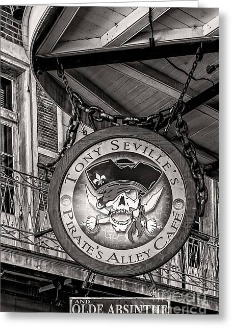 Pirates Greeting Cards - Pirates Alley Cafe - NOLA Greeting Card by Kathleen K Parker