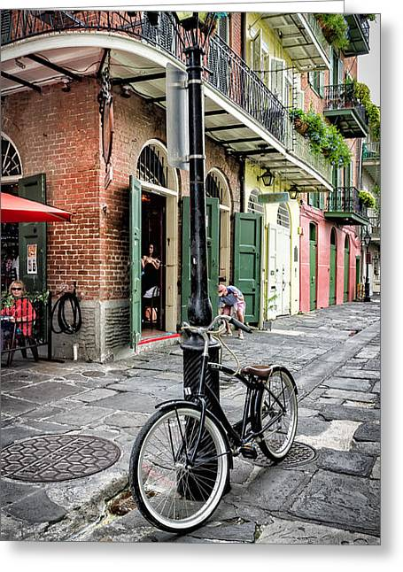 French Doors Greeting Cards - Pirates Alley - French Quarter Greeting Card by Kathleen K Parker