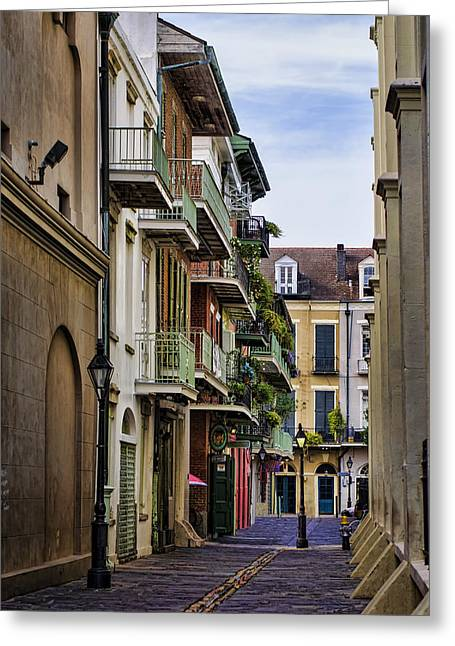 French Quarter Home Greeting Cards - Pirates Alley Greeting Card by Heather Applegate