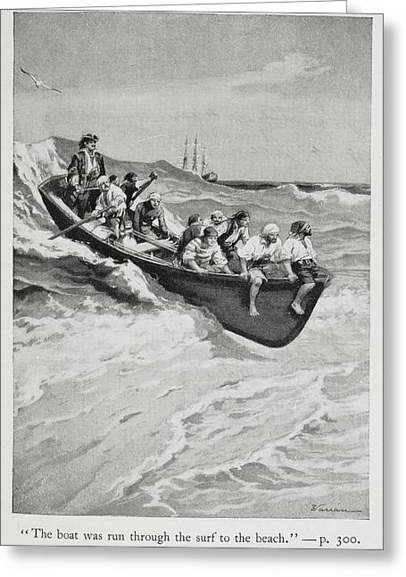 Pirates And Their Captain In A Boat Greeting Card by British Library