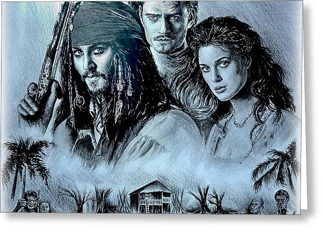 Pirates Greeting Card by Andrew Read