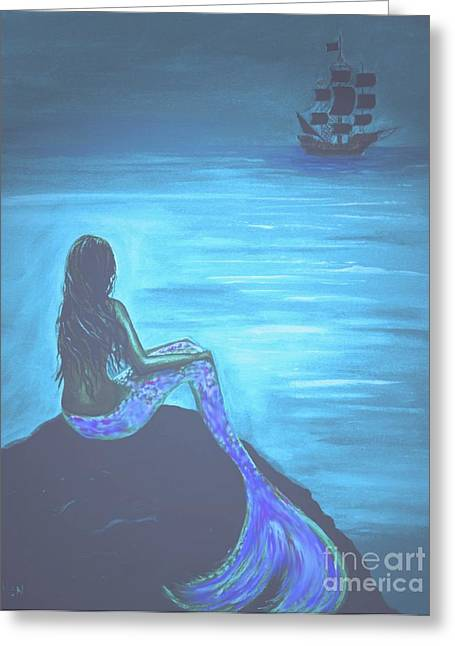 Picture Of Mermaids Greeting Cards - Pirates Farewell Greeting Card by Leslie Allen