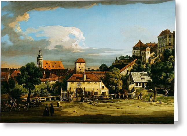 Constable Greeting Cards - Pirna  The Obertor from the South 1753 1756 or the late 1760s Greeting Card by MotionAge Designs
