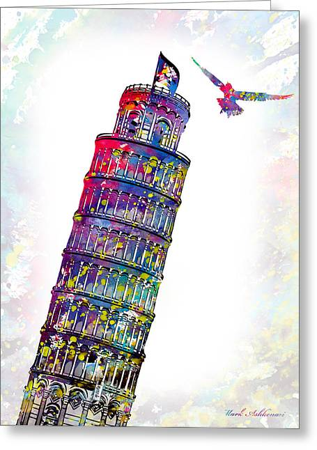 Pisa Greeting Cards - Pisa tower  Greeting Card by Mark Ashkenazi