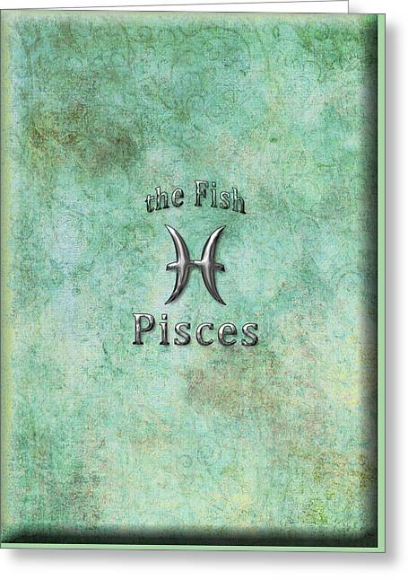 Daysray Photography Greeting Cards - Pisces Feb 19 to March 20 Greeting Card by Fran Riley