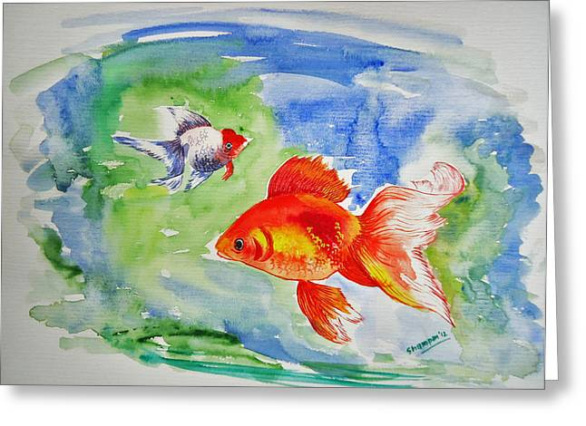 Shakhenabat Kasana Greeting Cards - Pisces Greeting Card by Shakhenabat Kasana