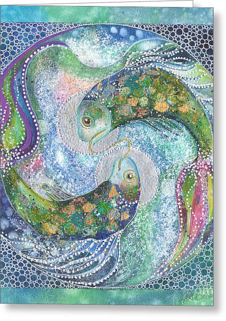 Pisces Xii Greeting Card by Kate Bedell