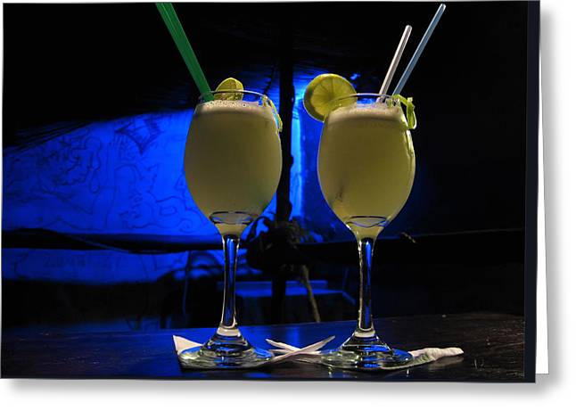 Pisco Sour In Puno Greeting Card by RicardMN Photography