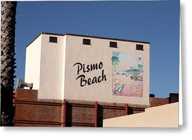 California Beach Art Greeting Cards - Pismo Beach Greeting Card by Art Block Collections