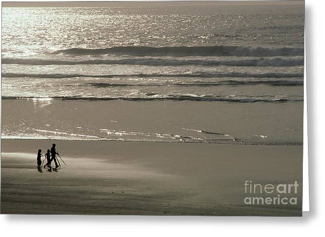 Ocean Shore Greeting Cards - Pismo Beach Greeting Card by Ron Sanford