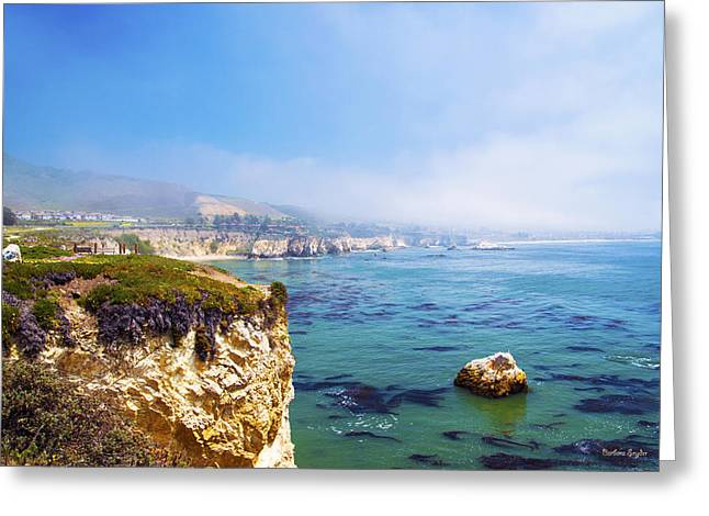 Beach Photos Digital Greeting Cards - Pismo Beach Through The Fog Greeting Card by Baarbara Snyder