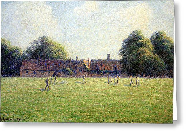 Camille Pissarro Photographs Greeting Cards - Pissarros Hampton Court Greeting Card by Cora Wandel
