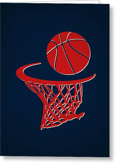 Piston Greeting Cards - Pistons Team Hoop2 Greeting Card by Joe Hamilton
