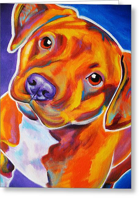 Staffie Greeting Cards - Staffordshire - Harlem Greeting Card by Alicia VanNoy Call