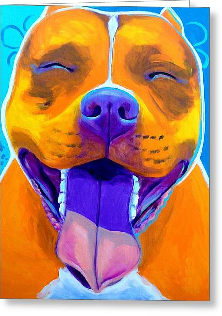 Bully Greeting Cards - Pit Bull - Mama Greeting Card by Alicia VanNoy Call