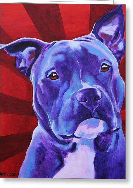 Alicia Vannoy Call Greeting Cards - Pit Bull - Shakti Greeting Card by Alicia VanNoy Call